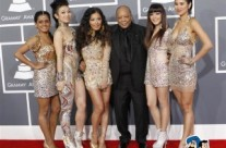 Blush attends 55th Annual Grammy Awards with Quincy Jones